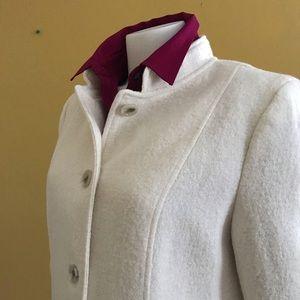 Talbots cream wool blazer//jacket